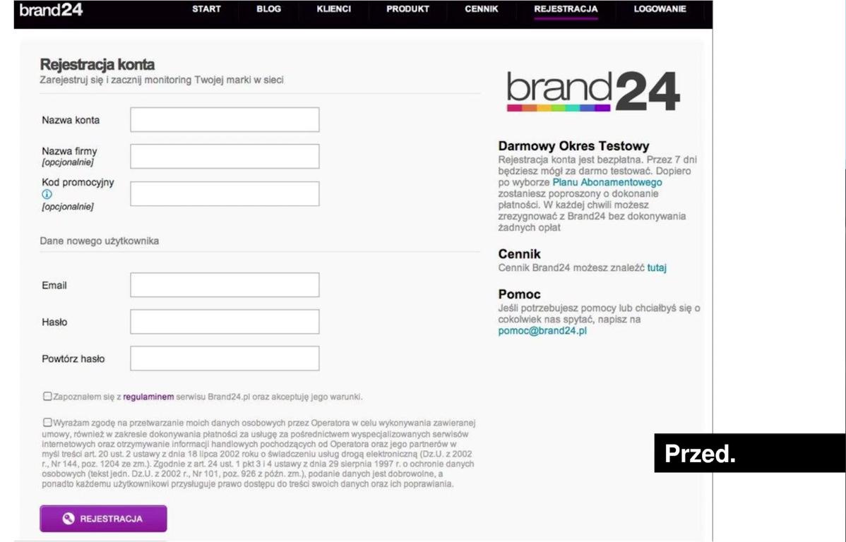 uproszczenie formularzy brand 24