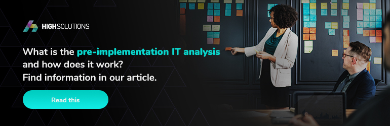 What is the pre-implementation IT analysis and how does it work? Redirect to the article about pre-implementation analysis.