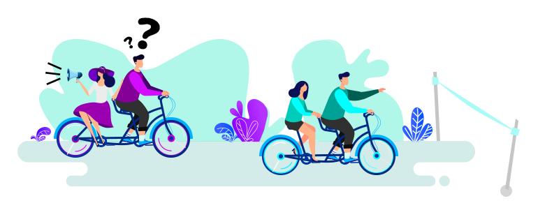 Wyścig rowerowy: szef vs. naturalny lider