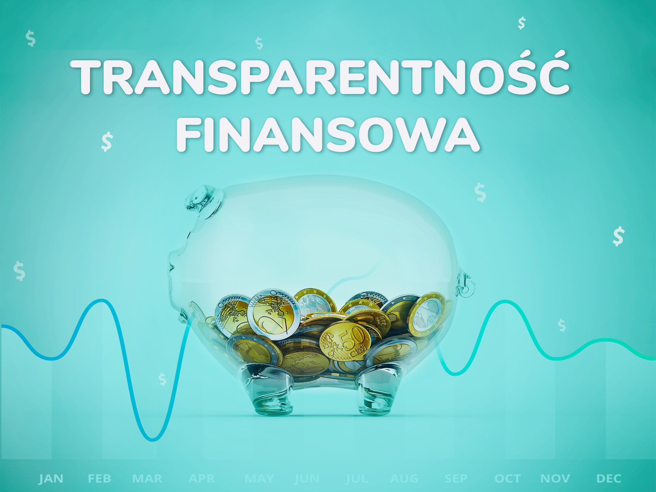 Szklana świnka skarbonka, obrazująca transparentność finansową